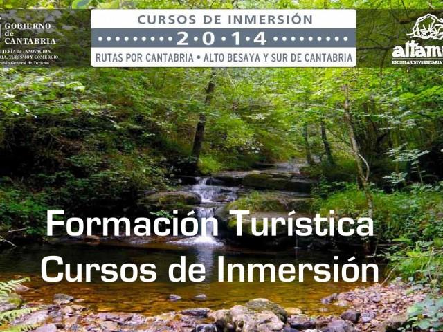 Formación Turística. Cursos de Inmersión.