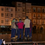 Marceros cantando en la Plaza de España.