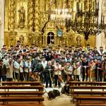 Rondas campurrianas en el interior de la iglesia de San Sebastián de Reinosa. Día de las Marzas.Jujear. Campoo devanado.
