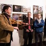 En primer plano voz y rabel de Alfonso Ahumada, escuchando Victor G. Huergo, Joaquín Solanas y Miguel de Arriba.