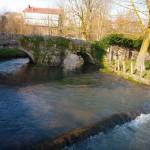 Puente de paso por el río Ebro