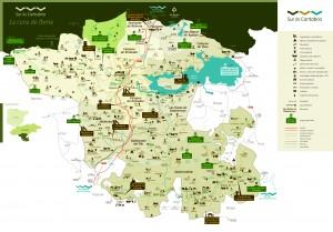 Mapa Sur de Cantabria