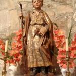 Talla en el interior de la iglesia de Otero del Monte