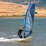Windsurf en el pantano del Ebro